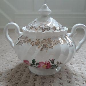 Vintage covered sugar bowl